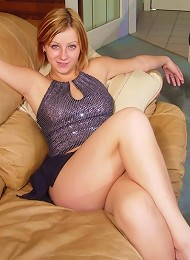 Lindsey Marshal in clubwear getting undressed